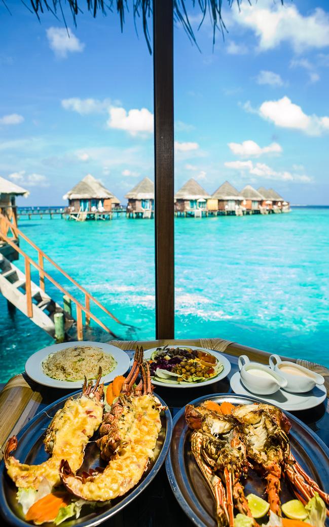 Hummer Dinner mit Blick auf das Meer © KKulikov / Shutterstock.com